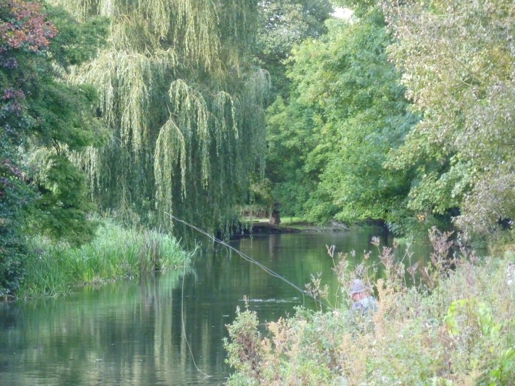 Fly-fishing on the Itchen