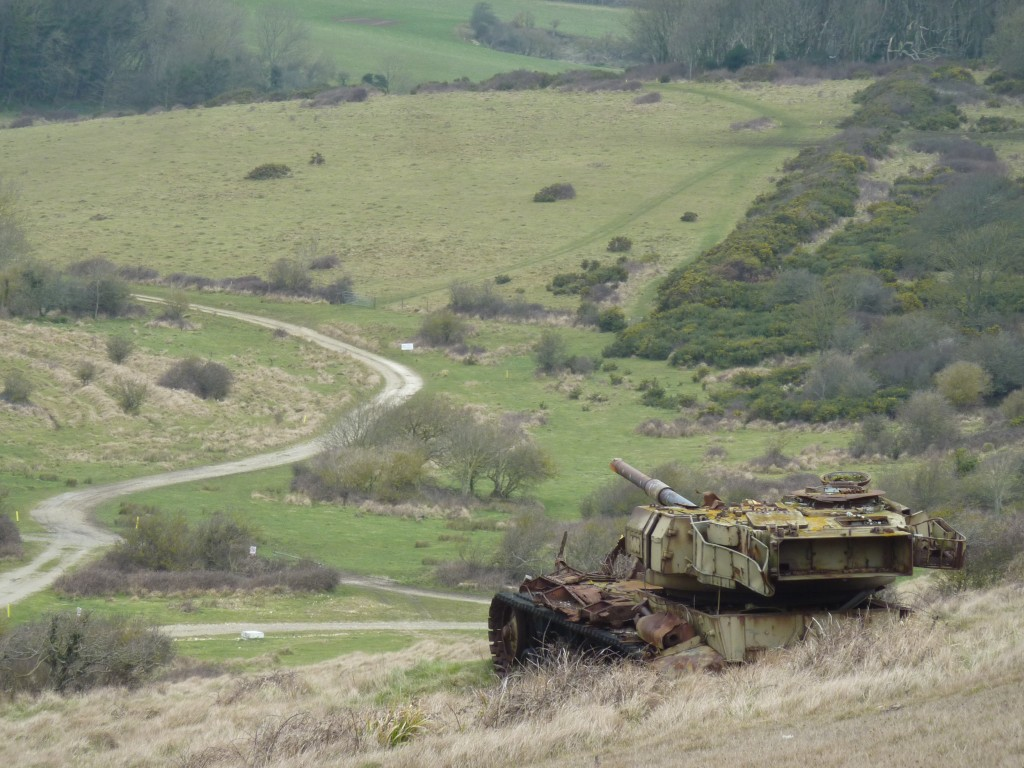 Tank on Lulworth Ranges