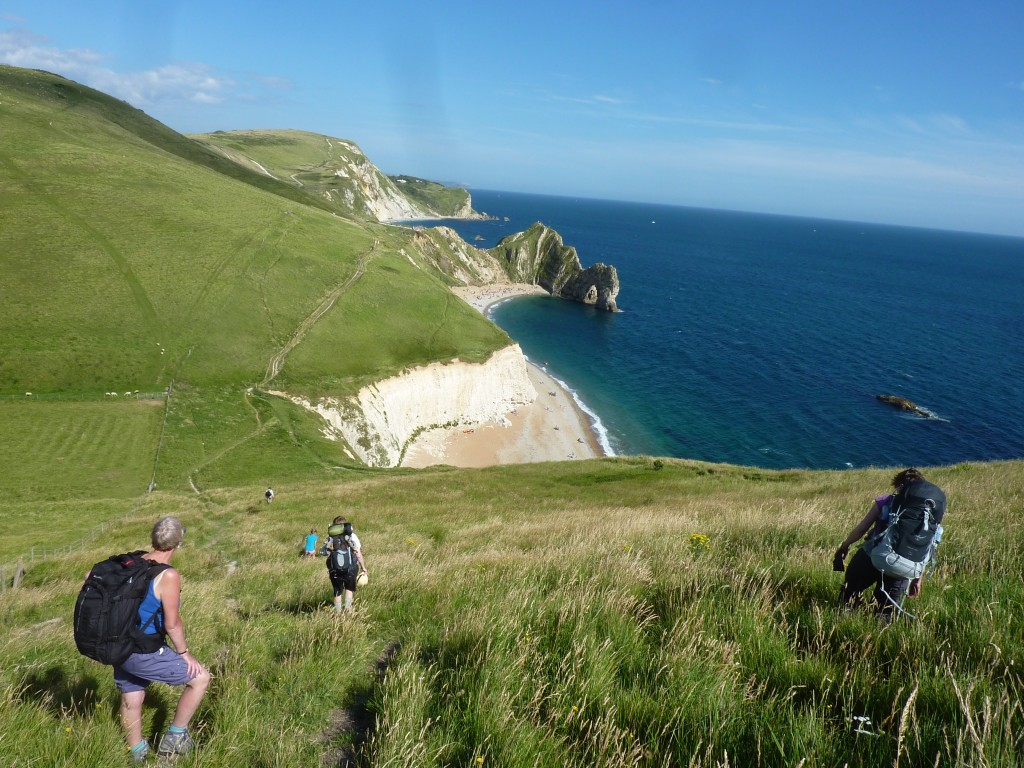 On our way to Durdle Door