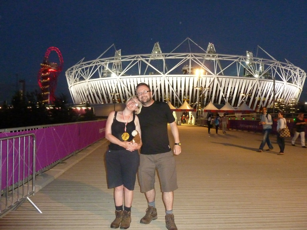 Outside the Olympic Stadium